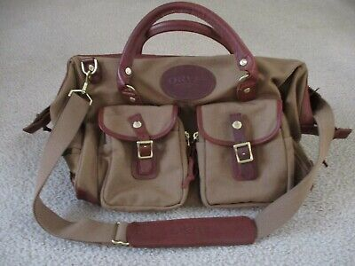 bf5f04e3e Vintage ORVIS Leather and Canvas 1856 Medium Duffle Bag Weekender Duffle Bag