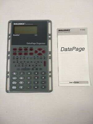 Rolodex Electronic DataPage Organizer 32K Memory RF-6060 Planner PDA