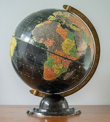 "Replogle 12"" Starlight Globe Deco Mid Century Streamline Cram Rand McNally Era"