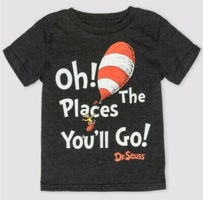 Dr Seuss Toddler Boys Oh The Places You'll Go! Shirt 4T