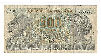 P93a 1966 Italy 500 lira note (world/lot) Combined Shipping