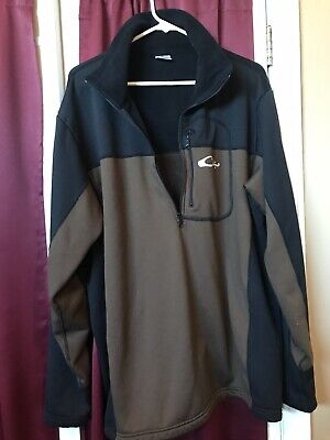 77d7cd948943a Drake Waterfowl Systems LST 1/2 Zip Jacket Pullover Black Brown Adult 2XL