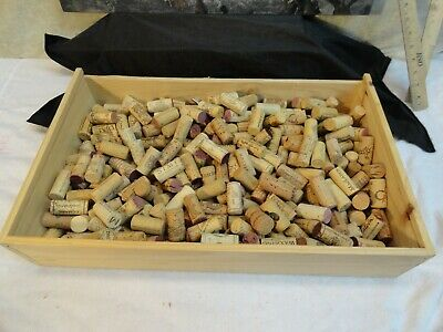 300 Natural Assorted Used Wine Corks YOU GET WHAT IS PICTURED ARTS CRAFTS NICE