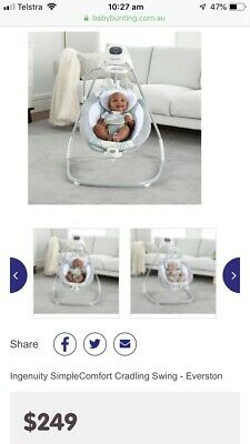 Ingenuity simple comfort cradling swing