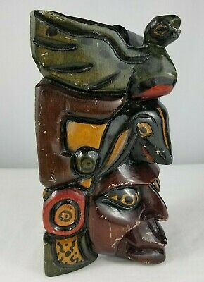 Vintage Handcarved Mexican Aztec Mayan White Marble Amp Onyx