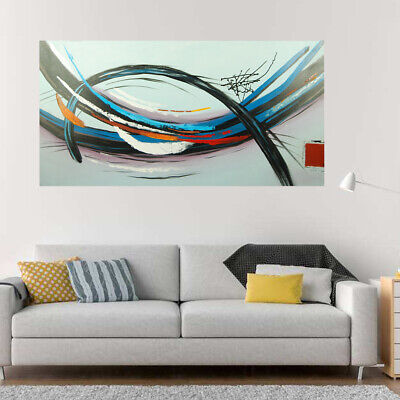 Genuine Hand Painted Abstract Pattern Oil Painting Canvas Home Decor Framed