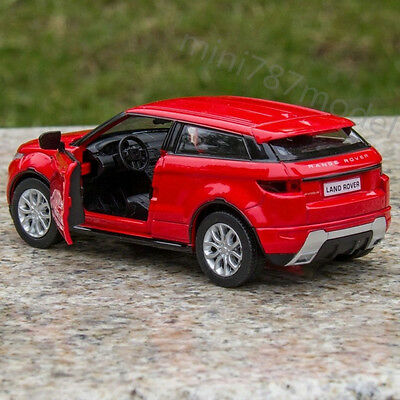 Land Rover Evoque Toys Alloy Diecast Model Car Two doors can open 5 inch Red New