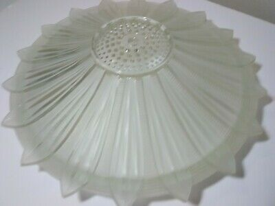 Antique Frosted Glass Sunflower Art Deco Light Ceiling Shade 1940s