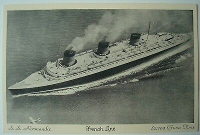Paquebot S.S. Normandie French Line 1936.
