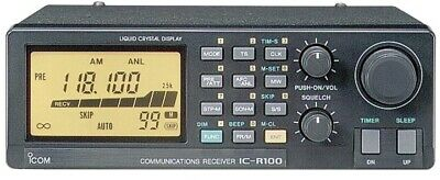 ICOM IC-R100 Compact Wideband Receiver covers: 0.1 - 1856 MHz