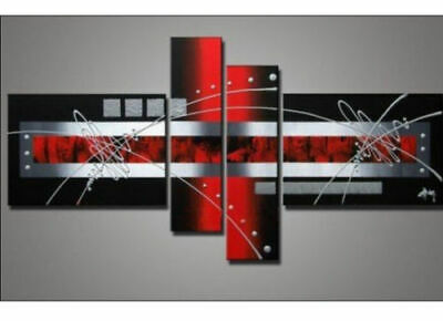 4PC Huge Modern Abstract Art Oil painting Wall Decor Canvas (No Frame)