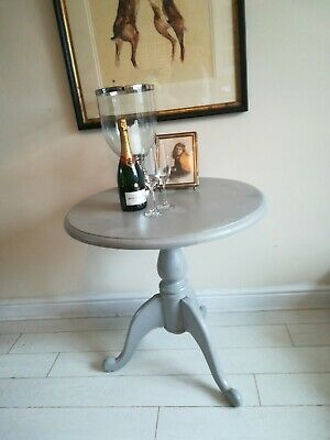 Shabby Chic Round Tilt Top Breakfast Table Grey top base
