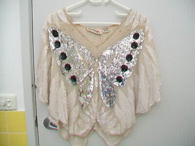 Vintage Festival Sequin Butterfly Top Free Size