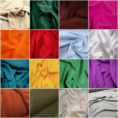 Best Quality 30 Colours Polar FLEECE Soft Fabric Material Antipill 150cm