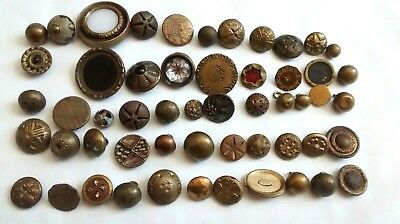 Antique Brass Button Mixed Large Lot Fancy Ball Ornate Filigree Floral