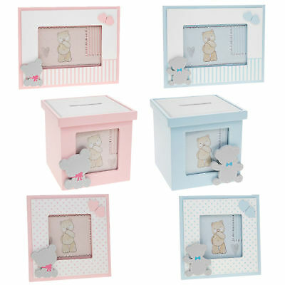 New Baby 'Tiny Ted' Range - Money Box / Photo Frames - Choose Design