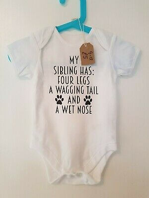pet siblings dog cat animal lover baby grow body suit gift vest personalised