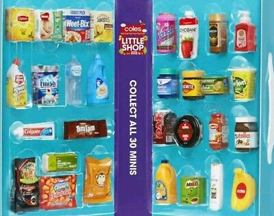 Coles Little Shop Mini Collectable Lot #2 Unopened Packs Clearance