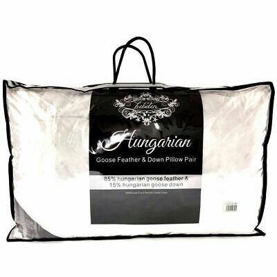 Soft Hungarian Goose Down Pillows Luxury Hotel Quality Feather Pillow Pack 1,2,4