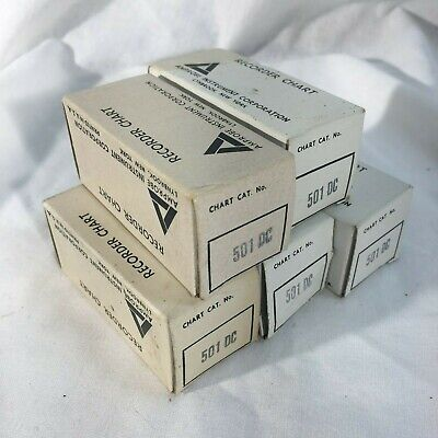 Lot of 5 AMPROBE INSTRUMENT 501DC Recorder Chart Paper Roll NOS!!