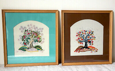 2 x Vintage Embroideries contemporary ~ Trees