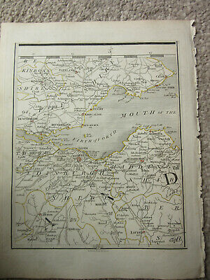 1794 -  John Cary original map 76 firth of forth  dunfermline