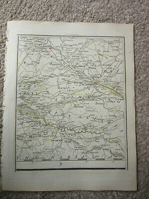 1794 -  John Cary original map 75 lanark dumblane whiteburn falkirk