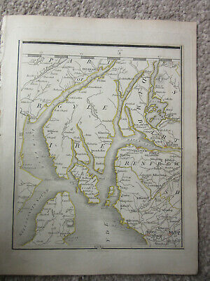 1794 -  John Cary original map 74 inverary  dumbarton greenock