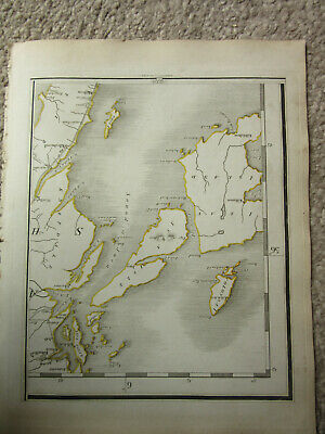 1794 -  John Cary original map 73 jura isle  scotland