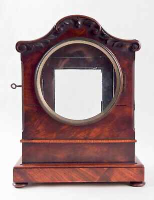 English Regency flame mahogany double fusee bracket clock case @ 1815 Excellent