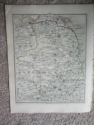 1794 -  John Cary original map 68 northumberland alnwick