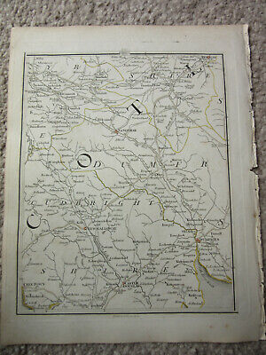 1794 -  John Cary original map 66 sanquhar  new galloway dumfries