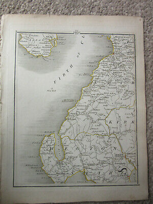 1794 -  John Cary original map 65 isle of arran  prestwick wigton