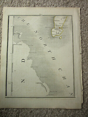 1794 -  John Cary original map 64 mull of kintire  ballycastle  larne