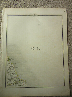 1794 -  John Cary original map 61 scarborough