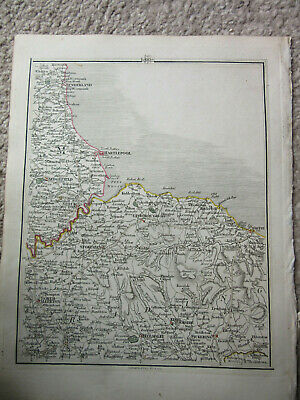 1794 -  John Cary original map 60 hartlepool whitby