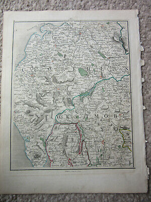 1794 -  John Cary original map 58 cumbria carlisle  kendal