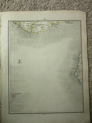 1794 -  John Cary original map 57 workington whitehaven  kirkudbright