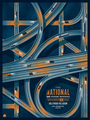 The National Phoebe Bridgers La Concert Poster Limited Edition Screen Print Dkng