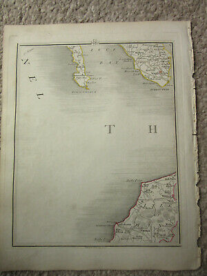 1794 -  John Cary original map 56 isle of man    whitehern    mull of galloway