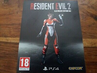Rare Elza Walker Costume DLC For Resident Evil 2 II Sony PS4 Sold out New