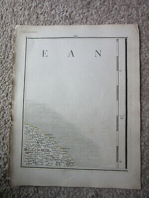 1794 -  John Cary original map 45 happisburgh  north walsham norfolk