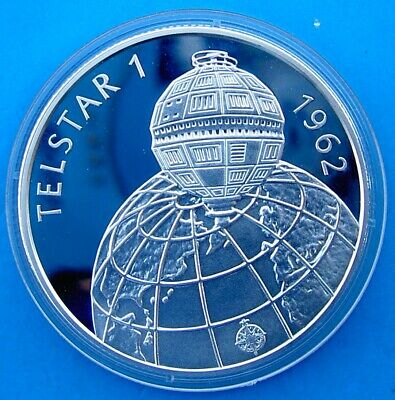 Hungary 500 F 1992 Silver Proof Argento Telstar I Satellite Space Mission Weig//