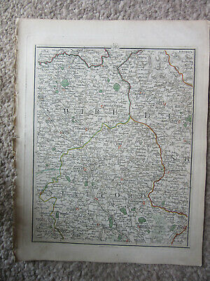 1794 -  John Cary original map 41 macclesfield altringham cheadle  leek ashborn