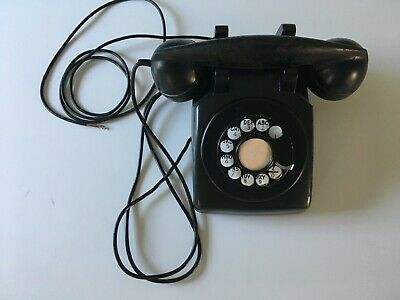 Vintage 1940 Western Electric Bell System Black Rotary Metal Dial Desk Phone