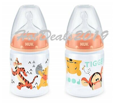 NUK First Choice+ 150ml bottle WINNIE THE POOH TIGGER silicone teat 0-6m