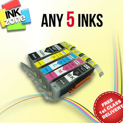 Pick ANY 5 non-OEM Ink for CANON PIXMA MG5450 MG5550 MG5650 MG6350 MG6450 MG6550