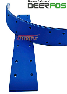 70 x 420mm Wet and Dry Sanding Strips Hook & Loop Grip Abrasive Long Bed 14 Hole
