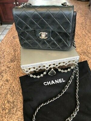 523b978f7882 CHANEL BLACK CAVIAR East West Medium Classic Single Flap Handbag Bag ...