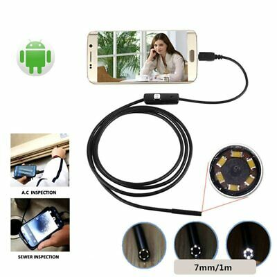 7mm Waterproof Mini Android Endoscope USB Wire Snake Tube Inspection Borescop…